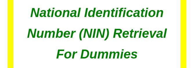 National Identification Number retrieval for dummies