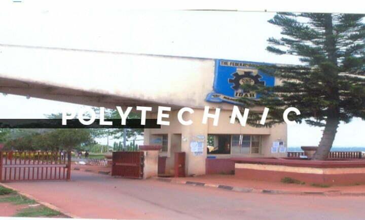 FPI Latest News: federal polytechnic main entrance gate (first campus, Okenya)