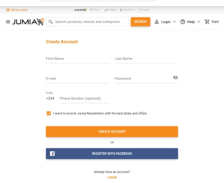 How to create Jumia account in order to buy something online successfully