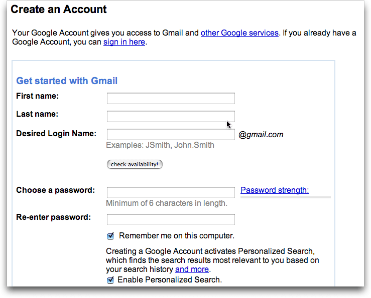How to create email address step-by-step