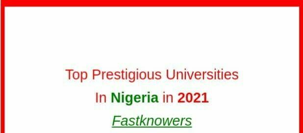 Top prestigious state universities in Nigeria in 2021