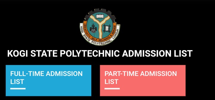 How both Part-Time and full-time applicant of Kogi State Polytechnic should check the admission list for 2020-2021 academic session