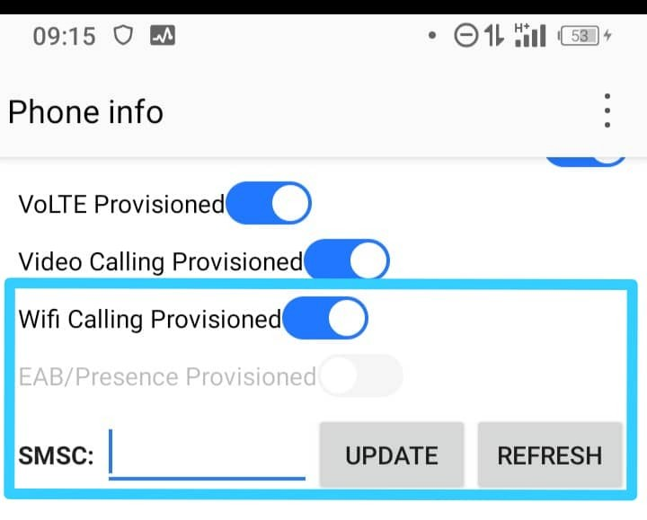 How to reset message center number of all networks on Android mobile phone