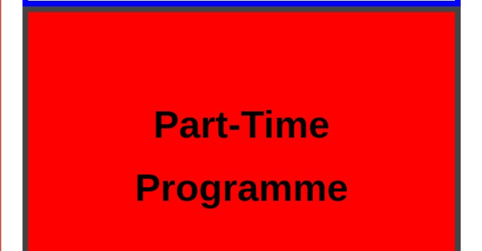 Courses for part-time programme in Nigeria