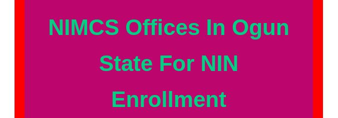 National ID card enrollment centres in Ogun state