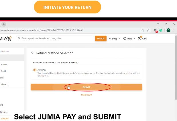How to return products to Jumia